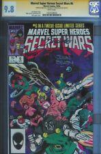 CGC SS 9.8 MARVEL SUPER HEROES SECRET WARS #6 TRIPLE SIGNED SHOOTER BEATTY ZECK