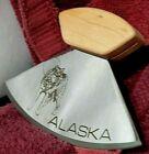 1986 Alaska ULU Knife with Display Wolf Etched on Blade