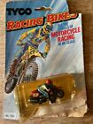 vintage Tyco RED MOTORCYCLE Racing Bikes HO slot car ON CARD 7002