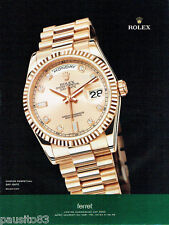 PUBLICITE ADVERTISING 115  2009  Rolex  montre Oyster-Perpetual Day-Date 2