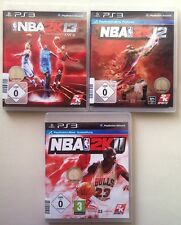 NBA 2k13 2013 + BASKET NBA 2k12 + NBA 2k11 PLAYSTATION 3 ps3 raccolta