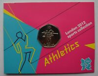 2012 London Olympic Games 50p Sports Collection Uncirculated Coin Athletics