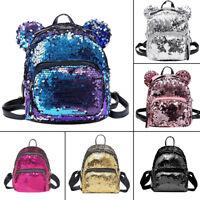 Women Girls Sequins Mini Backpack Travel School Satchel Shoulder Bag Ruckrack