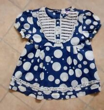 Girls Marks & Spencer navy spot top age 3-4 years good condition