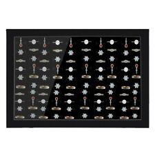 Jewelry Rings Display Tray Velvet 100 Slot Case Box Jewelry Storage Box US
