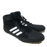 Adidas HVC 2 Wrestling Shoes Black White AQ3325 High Top Strap - Men's size 13