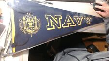 Vintage Navy  Pennant  EXTREMELY RARE IN EXCELLENT CONDITION NO TEARS NO HOLES