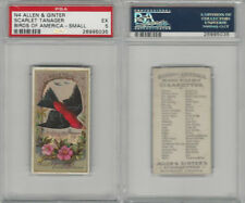 N4 Allen & Ginter, Birds of America, 1888, Scarlet Tanager, PSA 5 EX