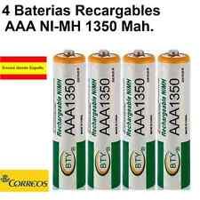 4 x AAA 1350 mAh Baterías Recargables 1.2v Bateria  NH AAA NiMh