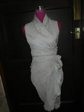 Amazing All Saints Alloy Dress Oyster Size 8 Excellent Condition