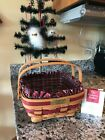 Longaberger 1993 Christmas Bayberry Basket - Combo in Red Weave
