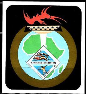 SELLOS DEPORTES ANGOLA 1981 HB 5 II JUEGOS DE AFRICA CENTRAL NATACION/ATLETISMO