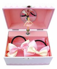 Lily & Ally Flower Ballerina Musical Children's Jewelry Box with Satin Ribbon Po