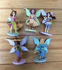 "Disney Fairies Fairy Figures PVC 3.5"" Cake Toppers Set Of 5 Wings Fantasy"