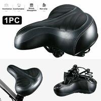 Comfortable Bicycle Saddles Seat Wide Big Bum Gel Pad Bike Replace Seat - NEW