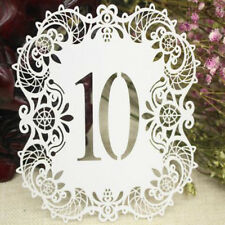 Laser Cut Place Table Numbers 1-10 Name Cards Wedding Birthday Venue Decoration