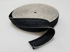 "33m Black & White 2"" Wide Chair Webbing Upholstery Jute Strap Natural"