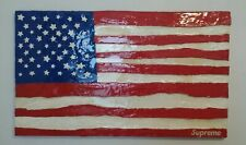 Supreme Box Logo American Flag Art Painting 1995