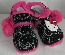 Hello Kitty Slipper Boots BLACK POMS NICE GIFT FREE USA SHIPPING SMALL 5-6