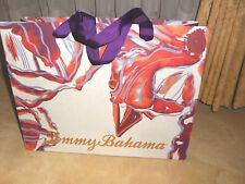 "TOMMY BAHAMA Rustic Orange  /Purple EMPTY PAPER GIFT BAG SHOPPING 11.5""X15""X5"""