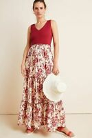 Anthropologie Womens Maeve Trudie Tiered Floral Maxi Dress Size XL NWT