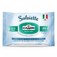 Camon Salviette detergenti al Muschio Bianco Cane e Gatto Confezione da 40 pezzi