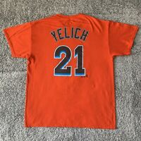 Majestic MLB Miami Marlins Christian Yelich Baseball Shirt Large