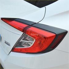 Carbon Fiber style Rear Lamp TailLight Cover Trim For Honda Civic Sedan 2016-17