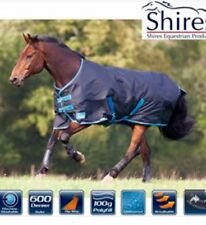 "Shires Tempest Original 100 Turnout Rug 7'0"" Black /Turquoise Brand New"