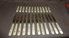 Antique Silver Plated & Mother Of Pearl 24 Piece Fruit Cutlery Set