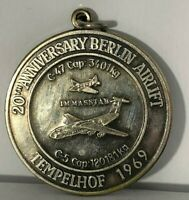 1969 20th Anniversary of the Berlin Medal Templehoff White Metal 35 mm