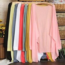 Women Cardigan Loose Casual Long-Sleeve Shirt Tops Blouse Ladies Top JJ