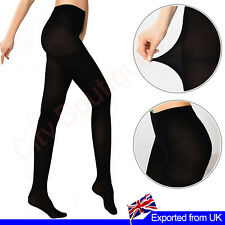 Ladies Opaque Tights Soft Full Length Stockings Footed Pantyhose Black