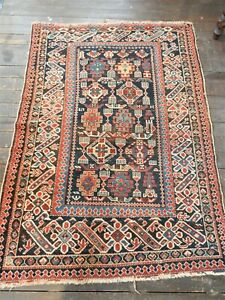 ANTIQUE CAUCASIAN RUG ORIENTAL  SHIRVAN KUBA KAZAK TURKOMAN TRIBAL CARPET RUG