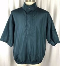 DRYJOYS By FOOTJOY Short Sleeve Rain Windbreaker Aqua Golfing Jacket Sz Large L