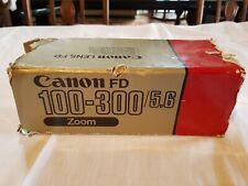 Canon FD 100-300/5.6 lens with original box