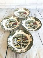 """The Ice House"", England ,Johnson Brothers The Friendly Village set of 4 Saucers"
