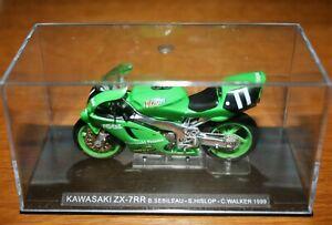 STEVE HISLOP CHRIS WALKER KAWASAKI ZX-RR 1999 1:24 IXO Motorbike - Rare