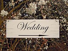 Wedding Direction Sign Arrow Wedding This Way Decoration Shabby Hanging Sign