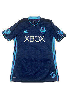2016 Seattle Sounders FC PACIFIC BLUE adidas Soccer Jersey Mens Medium Signed