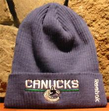 f8a807494afec Reebok NHL Vancouver Canucks Locker Room Cuffed Knit Beanie Toque Winter Hat