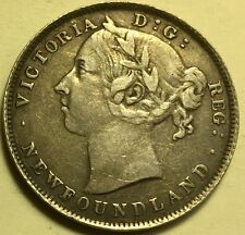 Newfoundland - Queen Victoria - 20 Cents - 1896 - Small Date - XF+