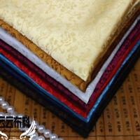 Jacquard Floral Brocade Satin Faux Silk Fabric China Retro Costume Luxury Decor