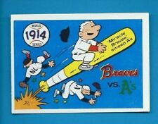 1970 Fleer R.G. LAUGHLIN WORLD SERIES 1914 BRAVES v A's  #11 BLUE BACK NRMT