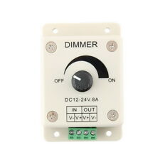 DC 12V 8A LED Light Strip Dimmer Adjustable Brightness Controller LX