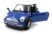 Mini Cooper Model Car with Desired License Plate Blue Scale 1:3 4-39 (Licensed)