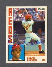 Cesar Cedeno signed Cincinnati Reds 1984 Opee Chee baseball card