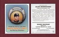 Sheldon BASEBALL ART card: #28 ALEX RODRIGUEZ, Mariners ~Advertising/Promotional