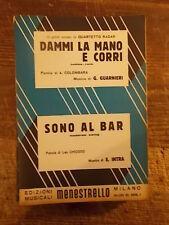 """SPARTITO QUARTETTO RADAR """"DAMMI LA MANO E CORRI"""" + """"SONO AL BAR"""""""