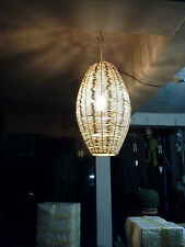 AUNK Interwoven Hanging Lemp Rattan Ceiling Home Fixture Handcraft 62 high